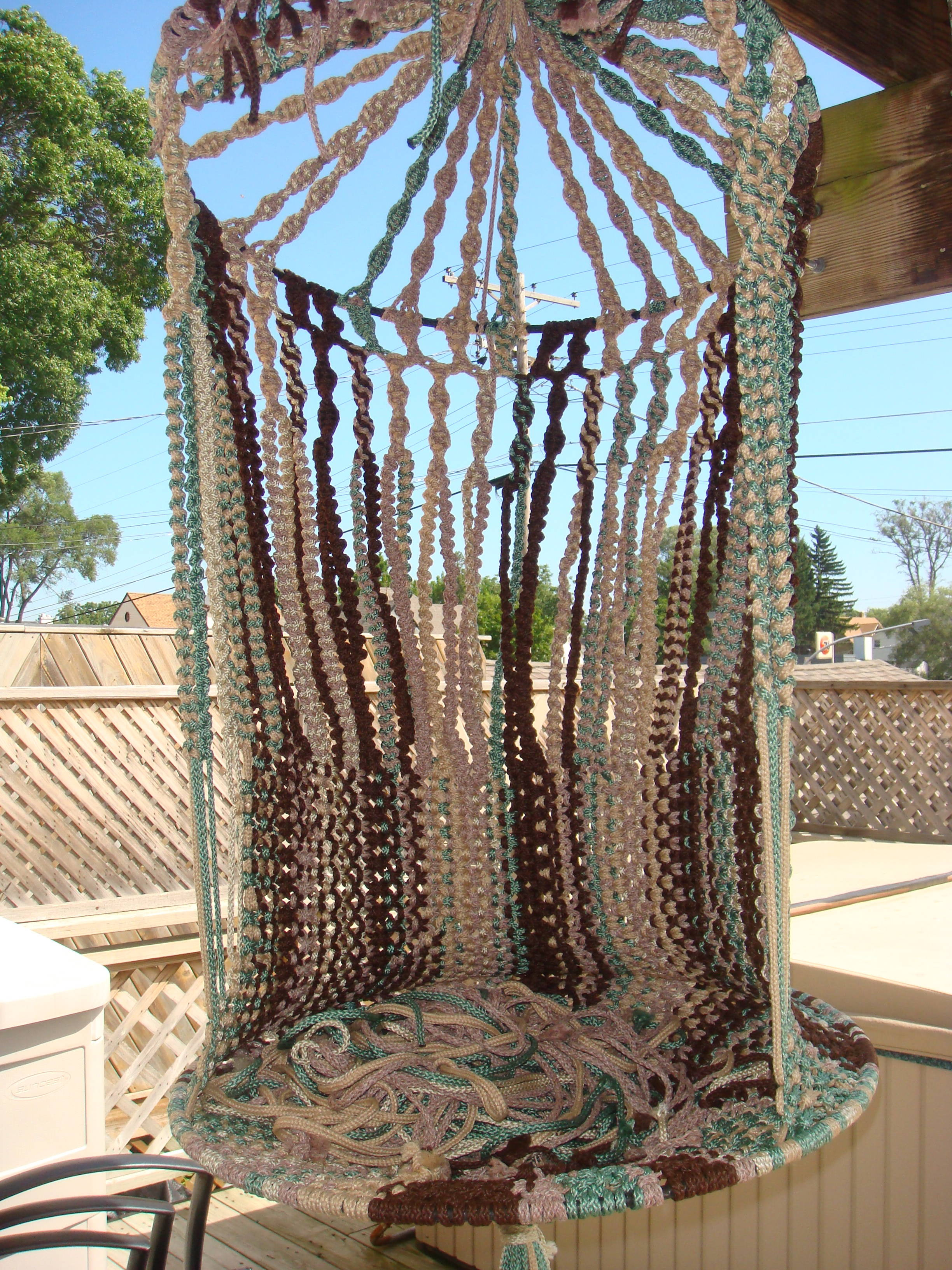 1000 images about garden furniture and swings on for Macrame hanging chair